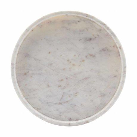 Housedoctor Plateau 30x marbre blanc 4cm