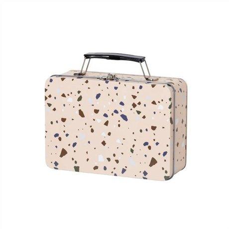 Ferm Living Terrazzo rosa Lunchbox Metall 18,5x13x6,5cm
