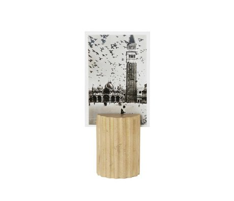 Ferm Living Kaartenstandaard Column brass goud solide Ø3,8x5,7cm