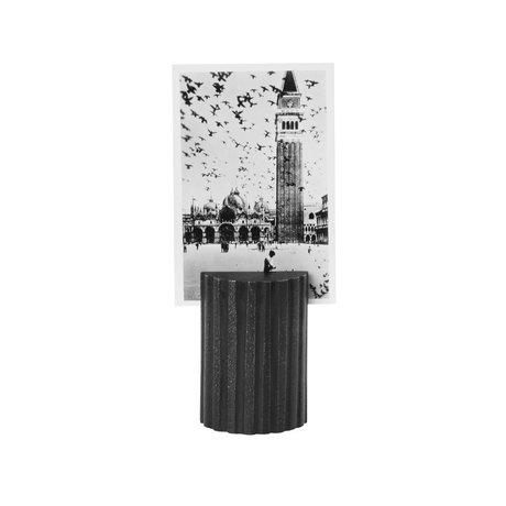Ferm Living Kaartenstandaard Column zwart solide Ø3,8x5,7cm