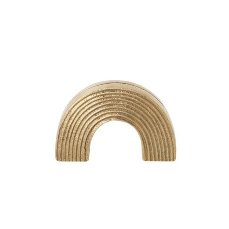Ferm Living Cards stand Arch brass gold solid 7,8x2,7x5cm