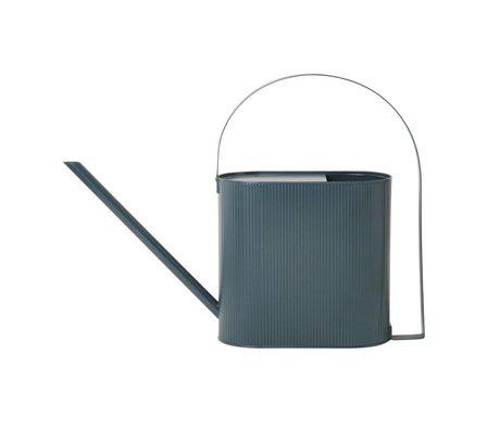 Ferm Living Watering can Bau dark blue zinc Large 56x13,5x41,5cm