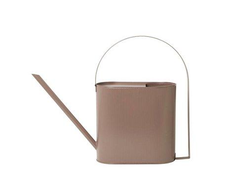 Ferm Living Watering can Bau dusty pink zinc Large 56x13,5x41,5cm