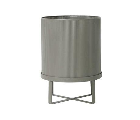 Ferm Living pot Bau Grande Ø28x38cm de zinc gris