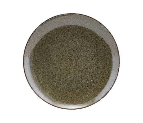 Housedoctor Ontbijtbord céramique verte du lac 21.4