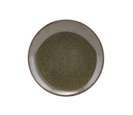 Housedoctor Gebaks plaque de céramique verte du lac 15.2