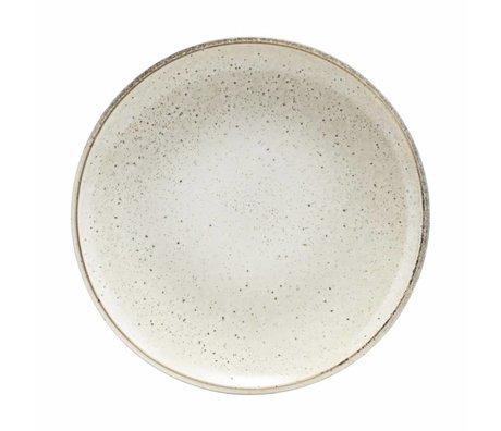 Housedoctor Frühstücksteller grau Keramik See 21,4