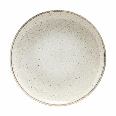 Housedoctor Petit-déjeuner en céramique gris plaque Lac 21.4
