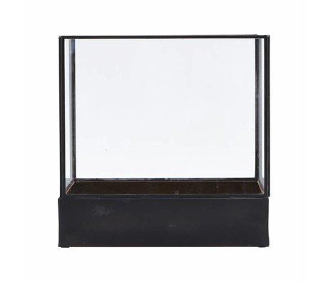 Housedoctor Display planten bak zwart glas 21x30x30cm