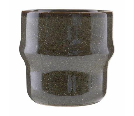 Housedoctor Becher See grüne Keramik 8,3 x 8,3cm