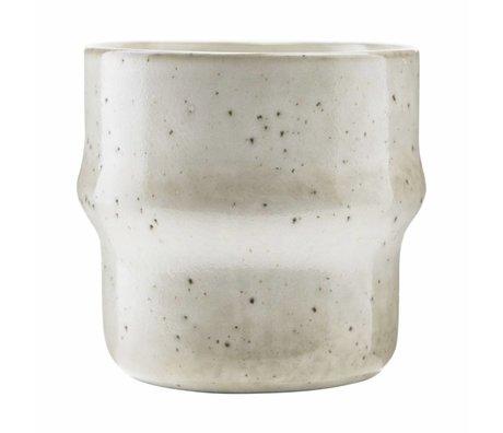 Housedoctor Becher See grau Keramik ¯8,3x8,3cm