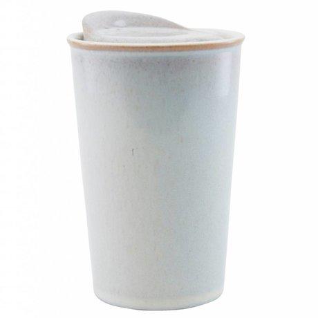 Housedoctor Mug Togo broken white ceramic ¯9x13.5 cm