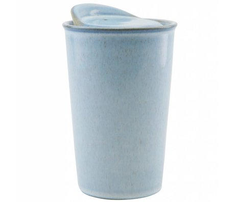 Housedoctor Mok Togo licht blauw keramiek 9x13,5cm