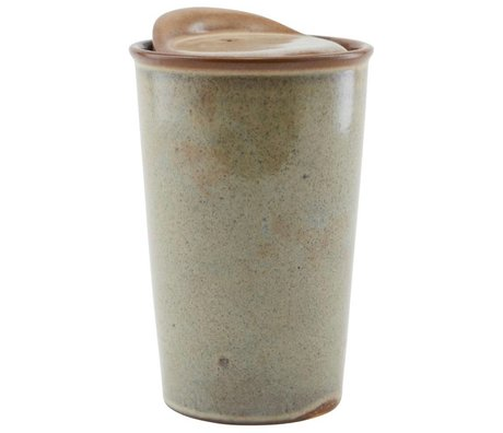 Housedoctor Mug Togo brown ceramic ¯9x13,5cm