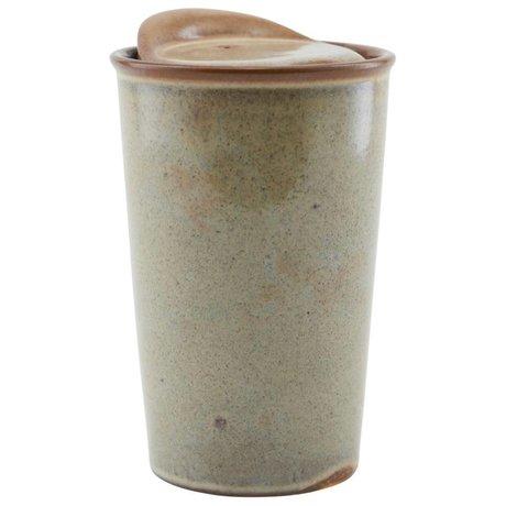 Housedoctor Tasse Togo brun ¯9x13,5cm céramique