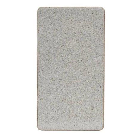 Housedoctor Bord Ivy zand keramiek 25x13,7cm
