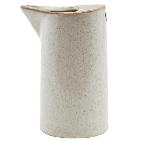 Housedoctor Peut Ivy céramique sable ¯7,8x14cm