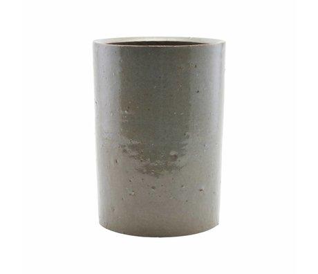Housedoctor Topf grau / grünen Ton 14x20cm