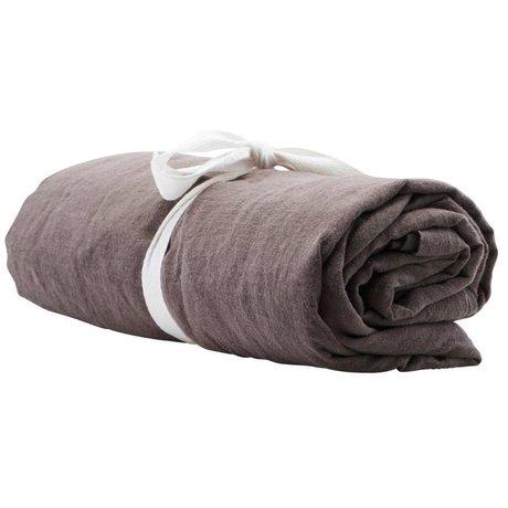Housedoctor Tafelkleed By grijs linnen 330x140cm