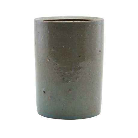 Housedoctor Pot grijs/groen klei 8,5x10cm