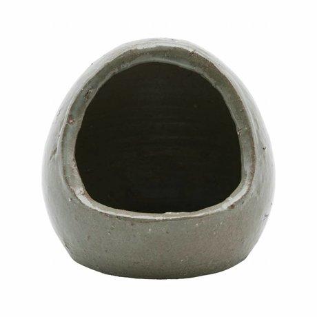 Housedoctor Sel pot gris / vert argile ¯12x14cm