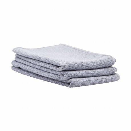 Housedoctor Keukenhanddoek Shine grijs polyester 35x35cm