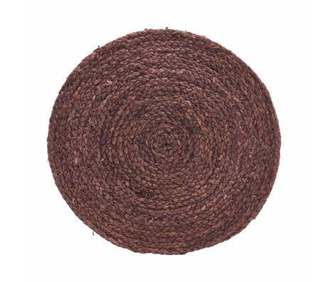 Housedoctor Placemat Circle henna 38cm set van 4