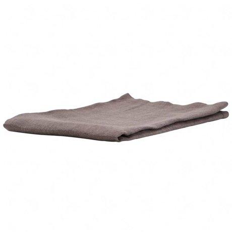 Housedoctor Par serviettes en lin gris 45x45cm