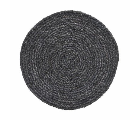 Housedoctor Placemat Circle grijs/blauw 38cm set van 4