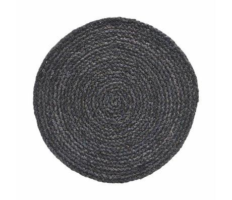 Housedoctor Tischset Kreis grau / blau 38cm 4er Set
