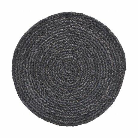 Housedoctor Napperon cercle gris / bleu 38cm
