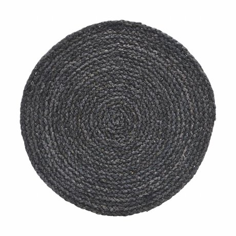 Housedoctor Placemat Circle gray / blue 38cm set of 4