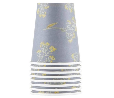 Housedoctor Paper cups Summer multicolor cardboard 9cm