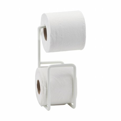 Housedoctor Avec porte-papier toilette en acier blanc 24,5cm