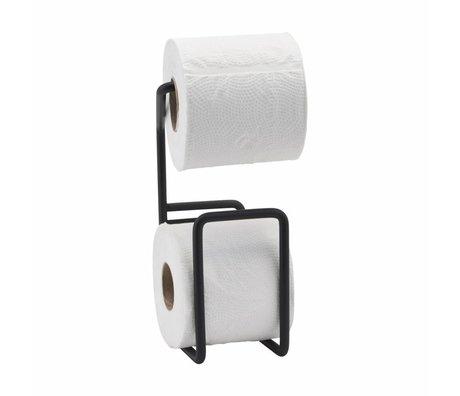 Housedoctor Toilettenpapierhalter durch schwarzen Stahl 24,5cm