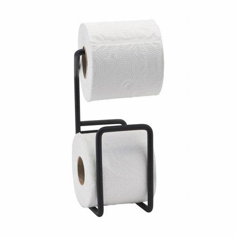Housedoctor Toilet roll holder Via black steel 24.5 cm