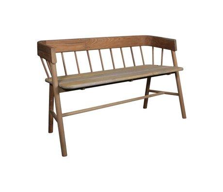 HK-living Brown canapé en teck 45x123x72cm en bois - Copy