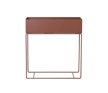Ferm Living Plant box rood bruin metaal 60x25x65cm