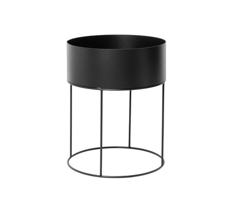 Ferm Living Box for plant around black metal ∅40x50cm