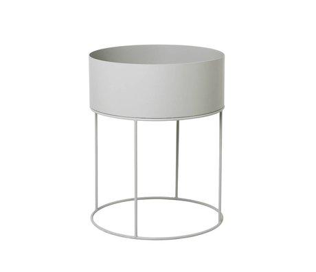 Ferm Living Boîte pour installation autour de ∅40x50cm de métal gris clair