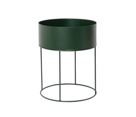 Ferm Living Box for plant around dark green metal ∅40x50cm