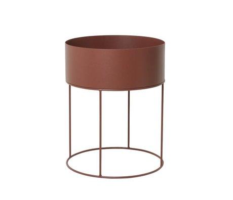 Ferm Living Box Anlage rund rotbraune Metall ∅40x50cm