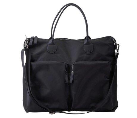 Housedoctor Reisetasche aus schwarzem Nylon 49x20x43cm