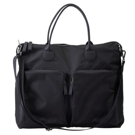 Housedoctor Travel bag black nylon 49x20x43cm