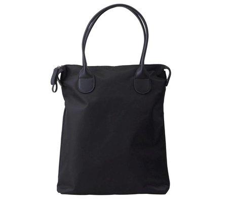 Housedoctor Reisetasche aus schwarzem Nylon 38x10x40cm