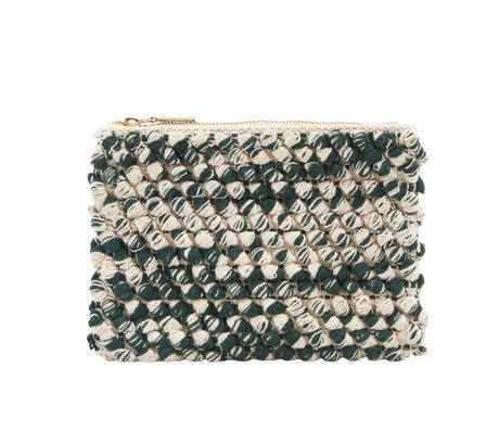 Housedoctor Clutch green cotton 22x15cm