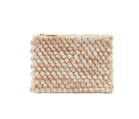 Housedoctor Clutch pink cotton 22x15cm