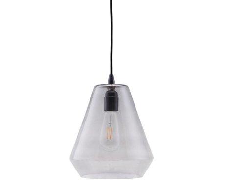 Housedoctor Hanglamp Hood grijs glas 22,5x25cm