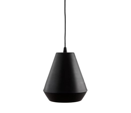Housedoctor Lampe suspension capot fer noir ¯22,5x25cm