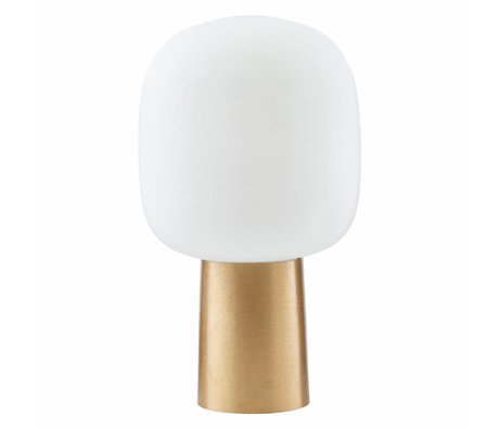 Housedoctor Table lamp Note white / brass glass ¯28x52cm